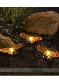 Набор декоративных садовых светильников на солнечной батарее фигурки Пчелы Smart Garden фото
