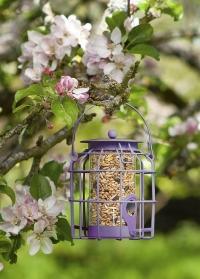 Металлическая подвесная кормушка для птиц с защитой от белок Compact Smart Garden фото