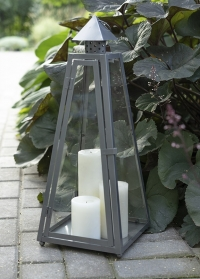 Подсвечник напольный из металла и стекла Пирамида WL84 Esschert Design фото
