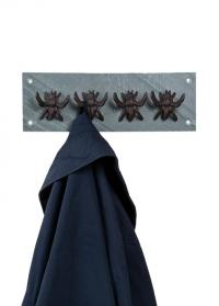 Декоративная настенная вешалка с 4-мя крючками Пчелы BEE011 Esschert Design фото