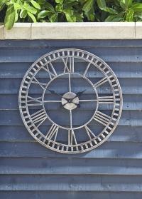 Часы скелетоны настенные уличные металлические 60 см Buxton Smart Garden фото
