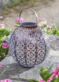 Декоративный фонарь на солнечной батарее в восточном стиле Damasque Bronze Smart Garden фото