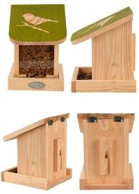 Деревянная настенная кормушка для птиц Домик для дачи FB540 от Esschert Design фото