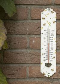 Термометр настенный металлический с принтом Пчелы BEE032 Esschert Design фото