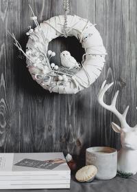 Авторский рождественский венок Lace&Grace