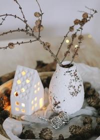 Ваза в скандинавском стиле из состаренной керамики Kara Lene Bjerre фото