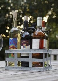 Корзина металлическая для переноса винных бутылок Esschert Design фото