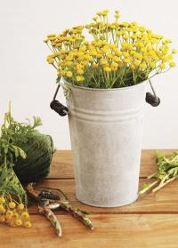 Оцинкованная ваза для цветов 4 литра Esschert Design фото
