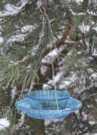 Стеклянная кормушка для птиц FB330 Blue Esschert Design фото