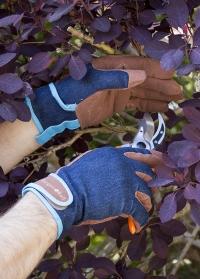 Перчатки защитные мужские для работы в саду и на даче Dig The Glove Denim Burgon & Ball фото