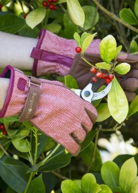 Перчатки садовые женские из твида Red Tweed Love the Glove от Burgon & Ball фото