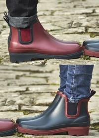 Ботинки-челси резиновые Navy & Claret Briers