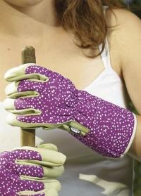 Перчатки садовые кожаные «Горошек» Briers