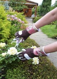 Садовые перчатки кожаные для работы в саду и на даче GardenGirl Chelsea Collection AR30 фото
