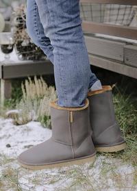 Угги резиновые зимние Marron-Beige Cheyenne AJS-Blackfox фото