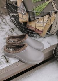 Утепленные галоши из эва для дома и дачи Grey Oslo AJS-Blackfox фото