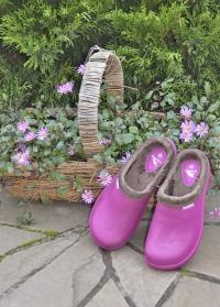 Галоши женские утепленные из эва для дачи Pink Oslo AJS-Blackfox картинка
