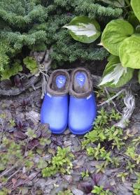 Галоши женские из эва с теплой подкладкой из флиса Blue Oslo AJS-Blackfox фото