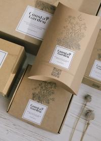 Подарочные коробки из крафта от Consta Garden для подарков садоводам и флористам картинка