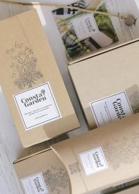 Фирменная подарочная крафт коробка большая Consta Garden фото