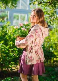 Ветровка парка женская с капюшоном PA02 GardenGirl Classic фото
