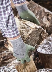 Перчатки садовые всесезонные для дачи, сада и огорода Cosy Fresh Green Briers фото