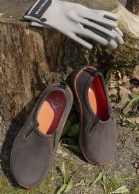 Мужские туфли из эва для дачи и сада DERBY Brown Orange AJS-Blackfox фото