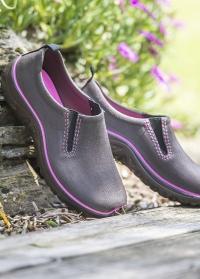 Туфли женские из эва для дачи Derby Brown-Rose AJS Blackfox фото