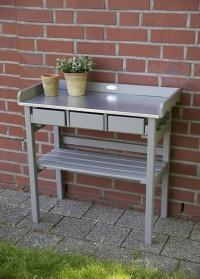 Садовый стол для рассады деревянный Esschert Design фото