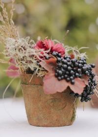 Цветочный горшок маленький из терракоты AT19 Esschert Design фото.