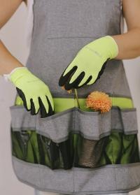 Перчатки садовые с латексом флуоресцентные Florabrite Burgon & Ball фото.jpg