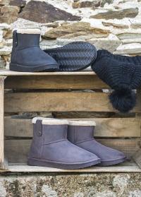 Ботинки угги зимние непромокаемые Marron Ankle Boot Cheyenne французского бренда AJS-Blackfox фото