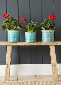 Кашпо керамическое, L  Tuscany Blue Indoor Pots Collection Burgon & Ball