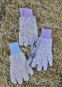 Набор садовых перчаток из хлопка с пупырышками Lavender Garden Briers B8697 фото.jpg