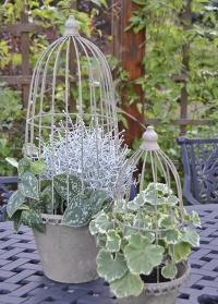 Набор садовых металлических кашпо для цветов с решетчатым колпаком Esschert Design фото