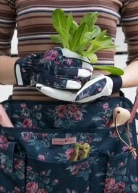 Перчатки для дачи и сада из козьей кожи GardenGirl Classic Navy фото