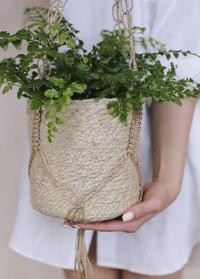 Кашпо для комнатных растений подвесное джутовое Munesia Lene Bjerre фото