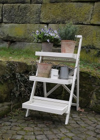 Этажерка деревянная белая Farm Folklore Esschert Design
