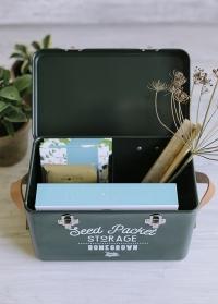 Бокс металлический для хранения семян Frog Garden Suppliers GEN/SEEDFROG от Burgon & Ball фото