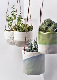 Подвесные керамические кашпо Indoor Pots Burgon and Ball фото.jpg