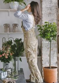 Одежда для флориста комбинезон из хлопка GardenGirl Roses GGH05 фото.jpg