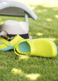 Женские сабо из эва с ремешком Lime & Lagoon Sun AJS-Blackfox фото