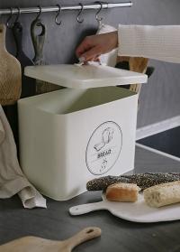 Хлебница эмалированная белая Esschert Design фото.jpg