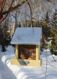 Деревянная кормушка для птиц «Домик» для загородного участка FB366 Esschert Design фото