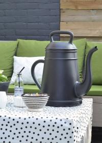 Садовая дизайнерская лейка кофейник Lungo Xala Black фото.jpg