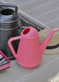 Лейка дизайнерская для цветов винтажный кофейник Butler Pink Xala Бельгия фото.jpg