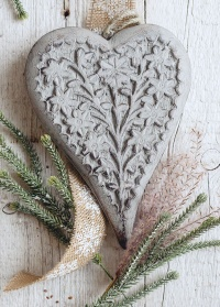 Новогоднее деревянное украшение - подвеска сердечко Lene Bjerre фото.jpg