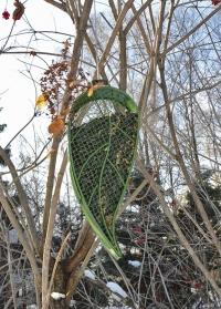 Кормушка для птиц подвесная Лист FB426 Esschert Design фото.jpg