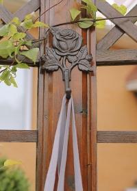 Крючок настенный декоративный из чугуна Roses TT211 Esschert Design фото