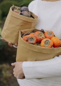 Декоративный эко мешок из крафта для хранения Caia Grey Lene Bjerre